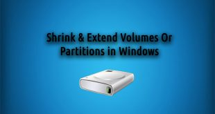 Shrink Volumes Or Partitions in Windows