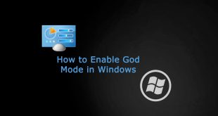 How to enable God Mode In Windows