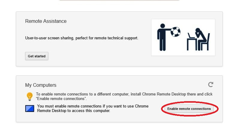 Enable remote connections