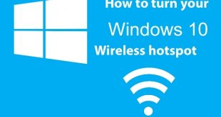 How to turn your Windows 10 in to a wireless hotspot