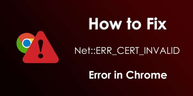Error on Chrome